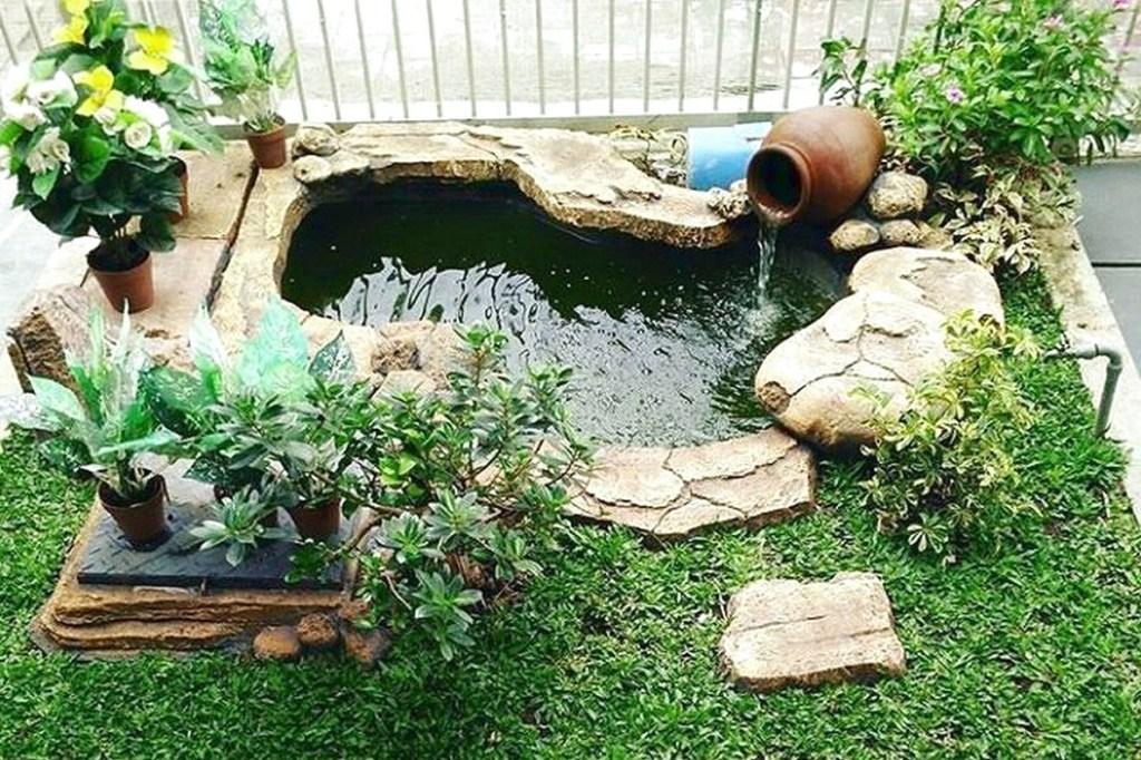 Desain Taman Minimalis di Lahan Sempit dengan Kolam