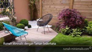 Rumah Mininalis dengan Taman Sederhana